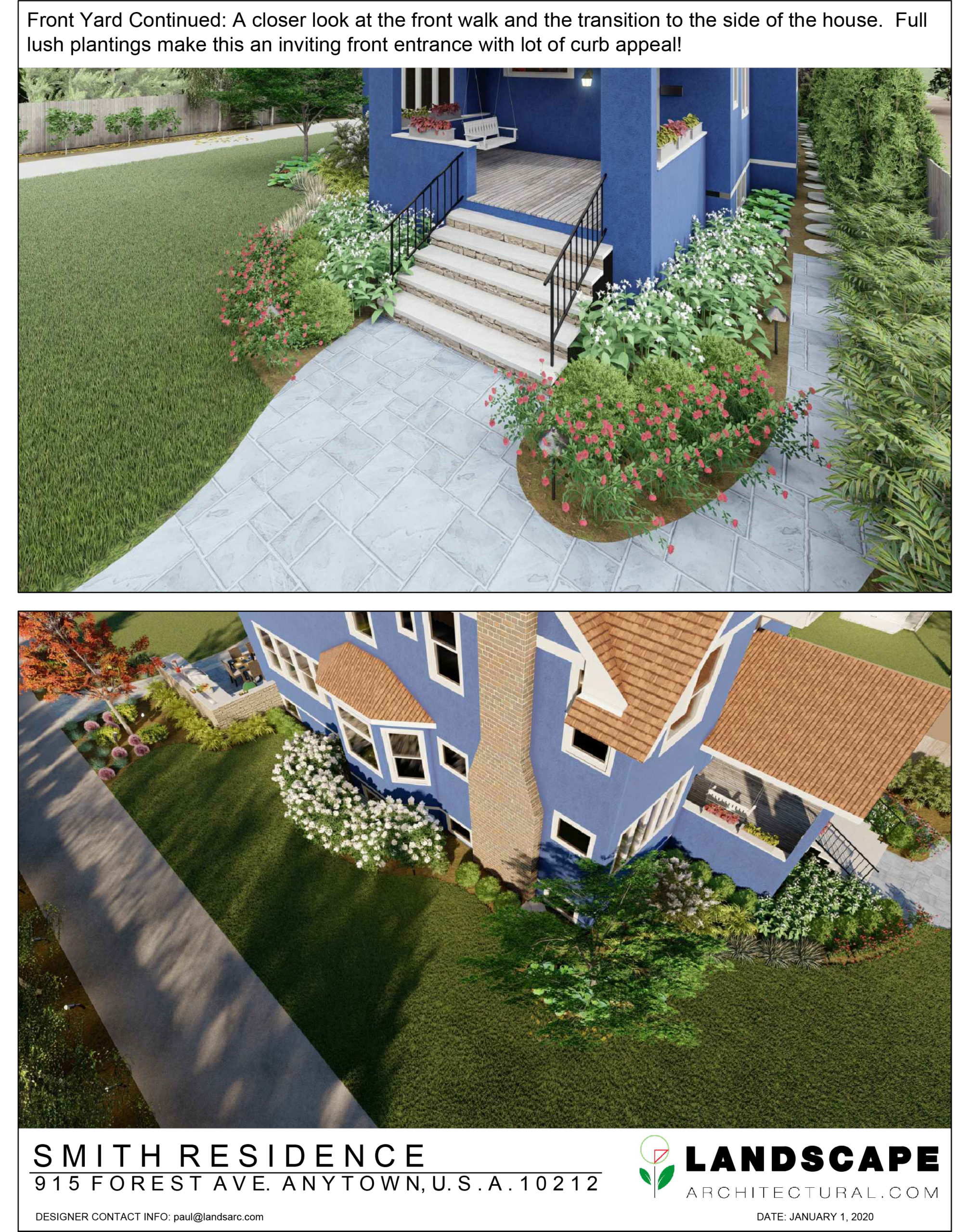 Front Yard 3D Rendering Example
