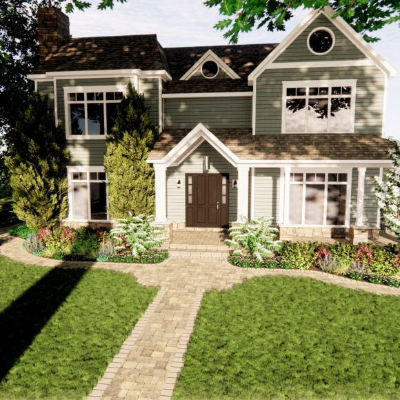 Front Yard Walkway and Plantings