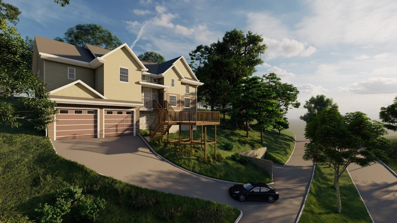 Photo-realistic driveway and front yard