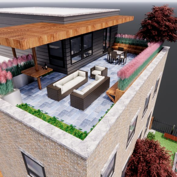 Modern Rooftop Deck and Outdoor Living