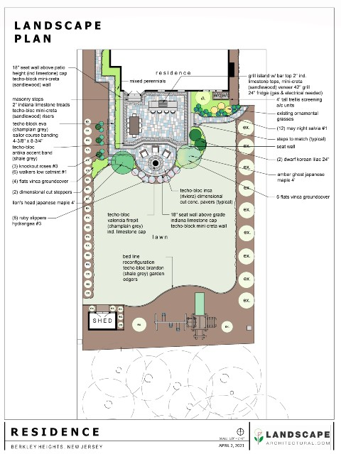 Back Yard 2D Plan for Professionals Page