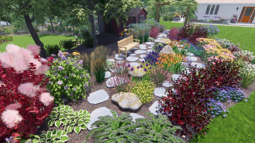 Perennial Garden Bench